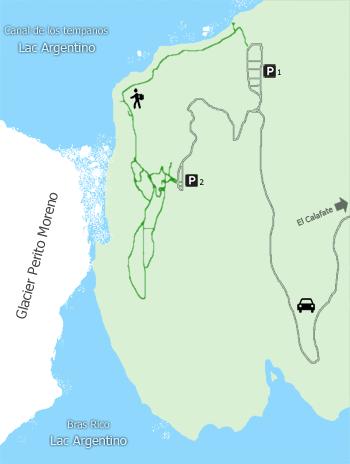 Sentiers aménagés du glacier Perito Moreno  - Argentine