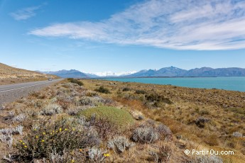 Route en direction du glacier Perito Moreno - Argentine