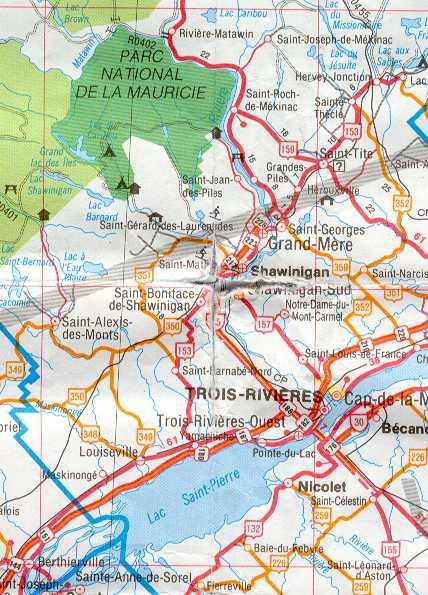 Carte Canada Est Detaillee.L Est Du Canada Quebec Partirou Com