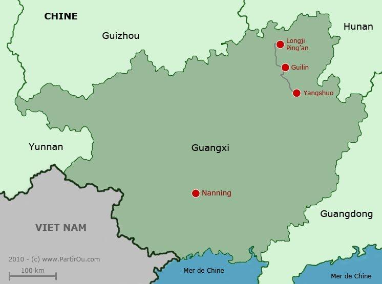 Carte Chine Hunan.Guangxi Chine Partirou Com