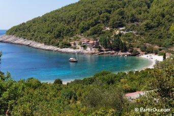 Plage de Pupnatska Luka sur Korčula - Croatie