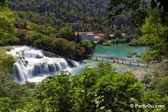 Chutes de Skradin dans le Parc National de Krka - Croatie