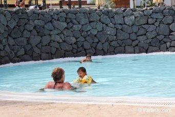 Avec des enfants à Lanzarote