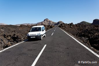 Route TF36, parc national du Teide - Ténérife - Canaries