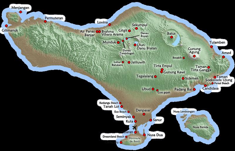 Carte Bali Candidasa.Bali L Ile Des Dieux Indonesie Partirou Com