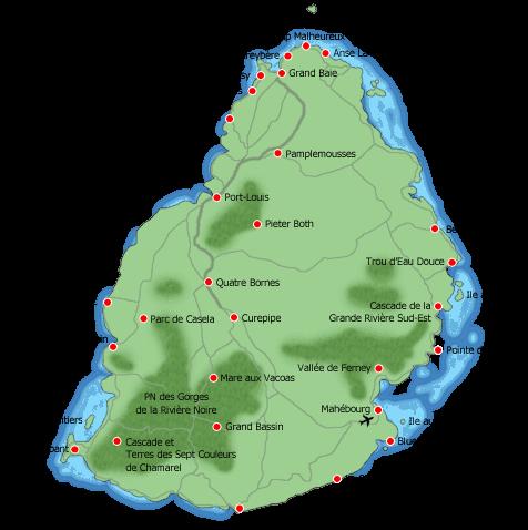 Carte Routiere Ile Maurice.Le Tour De L Ile Maurice Partirou Com