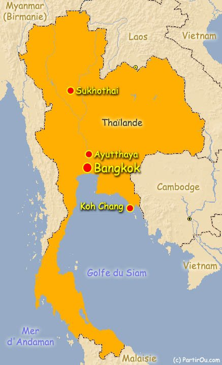 Ayutthaya Carte Thailande.La Thailande Partirou Com