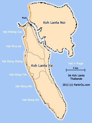 cartes iles thailande