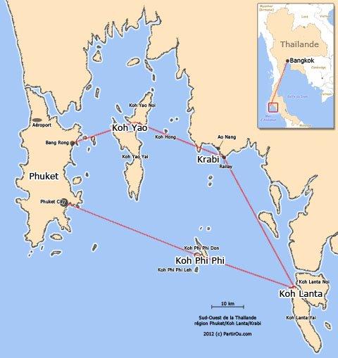 Carte Thailande Avec Distance.Le Sud Ouest De La Thailande Partirou Com