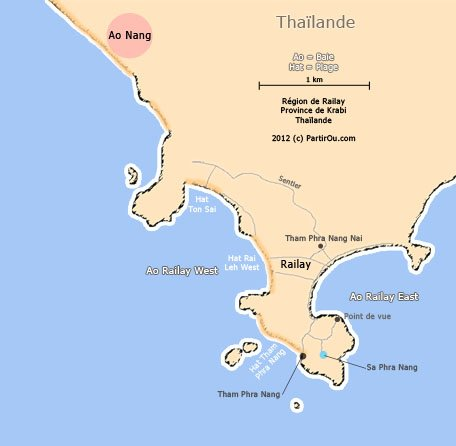 Carte Cote Ouest Thailande.Le Sud Ouest De La Thailande Partirou Com